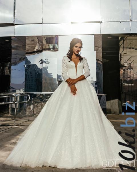 Свадебные платья - Закрытое свадебное платье с блестящей юбкой Келли