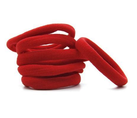 Фото Основы ,фурнитура для канзаши, Резинки Резинка диаметр 4 см. ширина 1 см. Нейлоновая , гладкая , плотная . Красного   цвета.