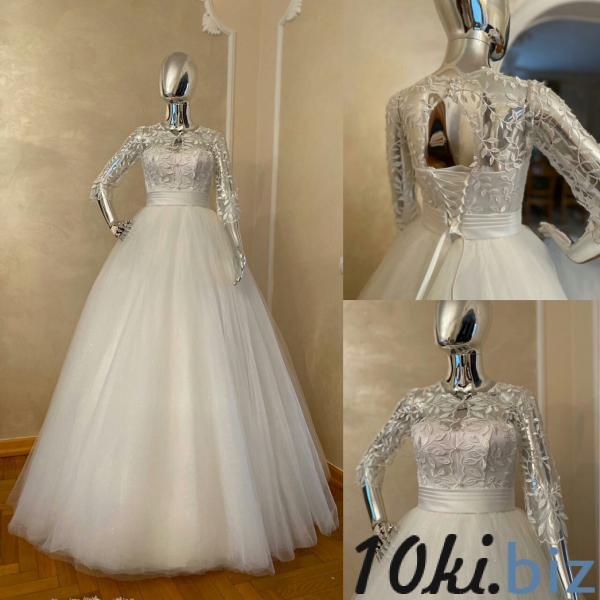 Свадебные платья - Пышное свадебное платье с блеском Метиола