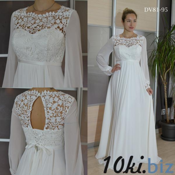 Свадебные платья - Прямое непышное закрытое свадебное платье Тори