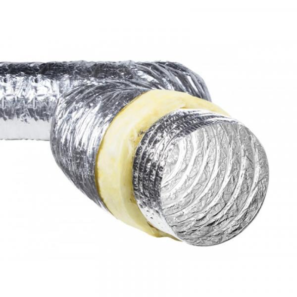 Фото Вентиляция, Воздуховоды, Гибкие фольгированые воздуховоды Воздуховод гибкий изолированный VG O180 (7