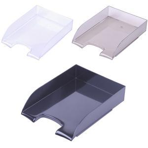 Фото Канцелярские товары (ЦЕНЫ БЕЗ НДС), Лотки для бумаг Модуль горизонтальный Бизнес пластик черный, прозрачный. (ЦЕНЫ см. подробнее)