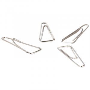 Фото Канцелярские товары (ЦЕНЫ БЕЗ НДС), Кнопки, скрепки Скрепки 32мм, Berlingo, 100шт., никелированные треугольные, с отогнутым носиком, карт. упак.