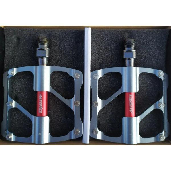 Педалі алюмінієві JTB-011 MySpace PROM (сіро/червоний)