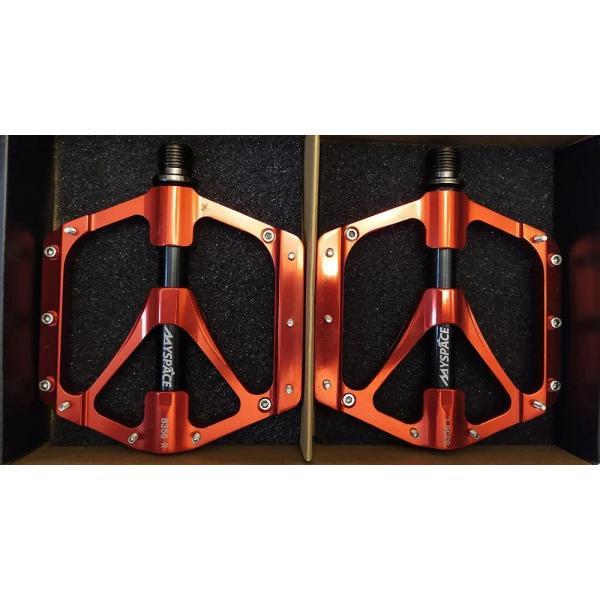 Педалі алюмінієві JTB-023 MySpace Y PROM (червоні/чорн)