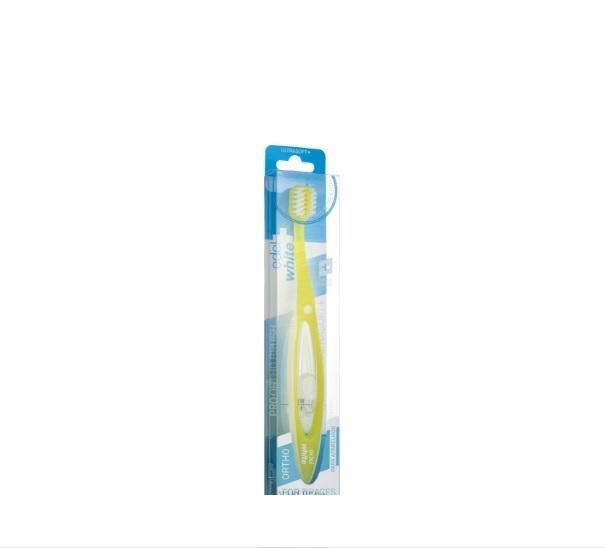 Ортодонтическая зубная щетка, желтая - (Edel+White Pro Ortho Toothbrush)