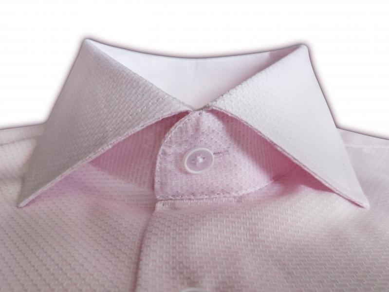 Фото Мужские рубашки Чоловіча сорочка Michael Schaft ніжно рожева Slim Fit
