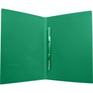 Фото Папки, файлы, планшеты, портфели, сумки (ЦЕНЫ БЕЗ НДС), Папки с прижимами, зажимами, на пружинах, на молнии Папка А-611 скоросшиватель с пружинным зажимом и карманом ,пластик