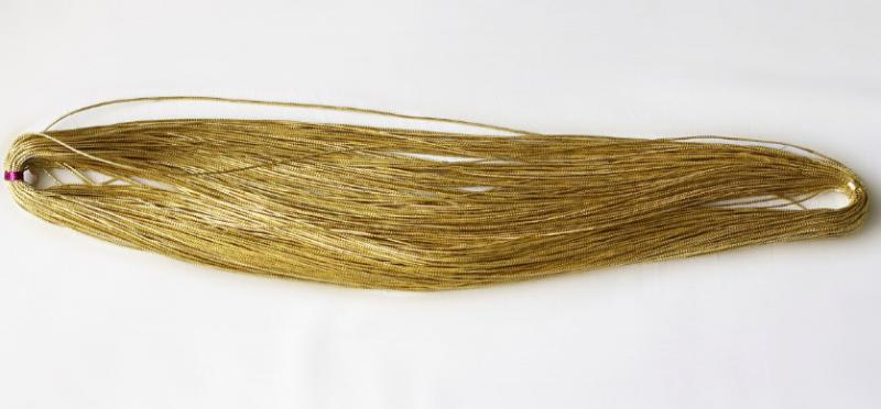 Фото Инструменты ,  крепёжные  материалы ,  клей  и  нитки. Шнур  парчёвый толщина  1 мм .  Золотого   цвета.