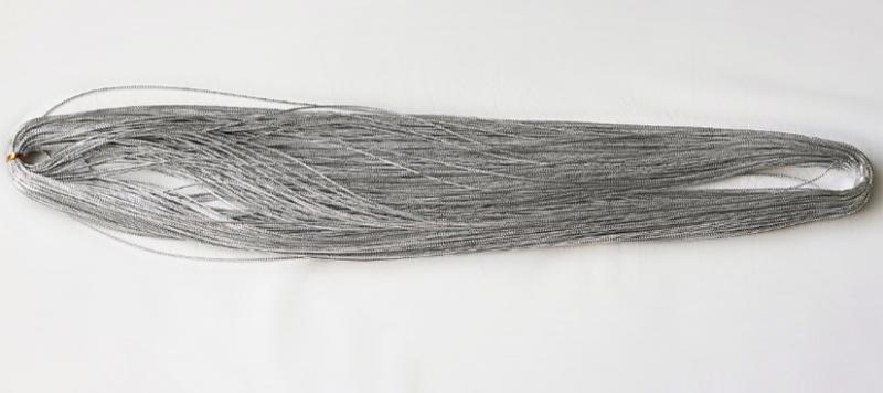 Фото Новинки Шнур парчёвый толщина 1 мм . Серебряного цвета.