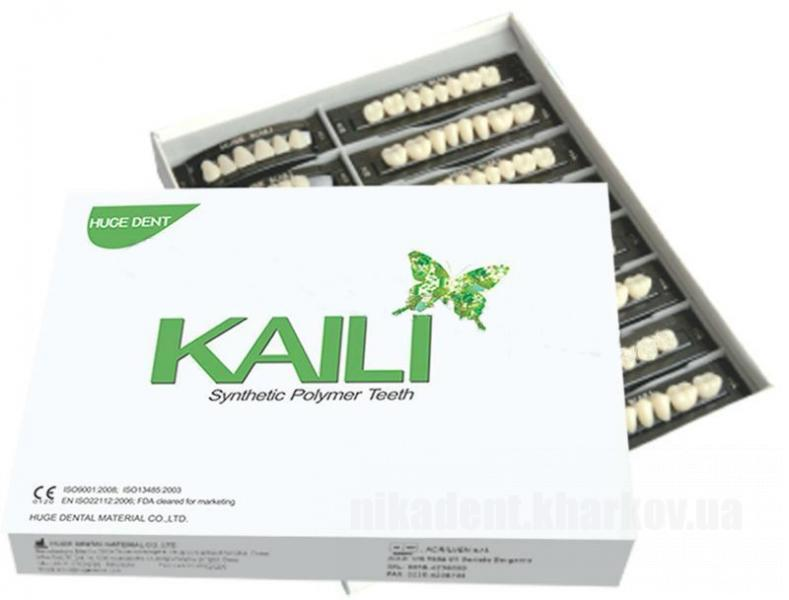 Фото Для зуботехнических лабораторий, МАТЕРИАЛЫ, Зубы акриловые ГАРНИТУРА ЗУБОВ KAILI (полный набор)