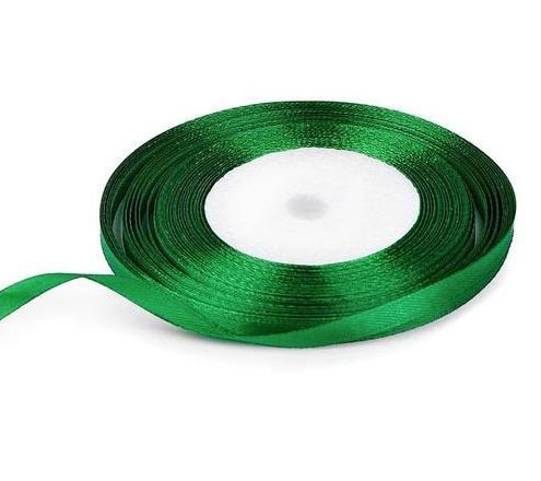 Фото Ленты, Лента атласная  однотонная 0,6-12мм Лента атласная 0,6 см.  Зелёного цвета. Бобина 22,7 метра.