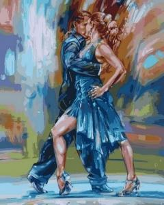 Фото  VP 565 Страстное танго Роспись по номерам на холсте 40х50см