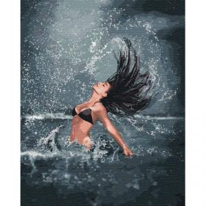 Фото Картины на холсте по номерам, Романтические картины. Люди KH 4744 Повелительница моря Картина по номерам на холсте 40х50см