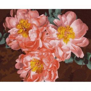 Фото Картины на холсте по номерам, Букеты, Цветы, Натюрморты KH 3110 Пионовое вдохновение Картина  по номерам на холсте 40х50см