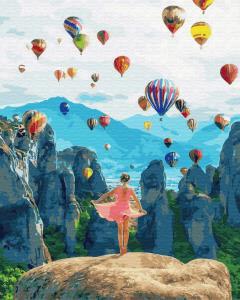 Фото Картины на холсте по номерам, Романтические картины. Люди KGX 34846 Воздушные мечты Роспись по номерам на холсте 40х50см  в коробке