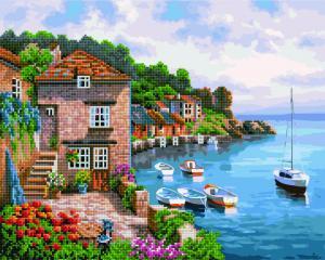 Фото  GZS 1034 Городская пристань Алмазная картина-раскраска (смешанная техника)
