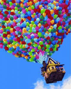 Фото  GZS 1040 Полёт на воздушных шарах Алмазная картина-раскраска (смешанная техника)