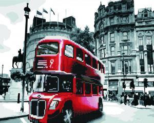 Фото  GZS 1073 Лондонский автобус Алмазная картина-раскраска (смешанная техника)