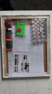 Фото  GZS 1086 Ромашки и васильки Алмазная картина-раскраска (смешанная техника)