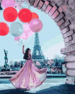 Фото  GZS 1087 Романтика Парижа Алмазная картина-раскраска (смешанная техника)