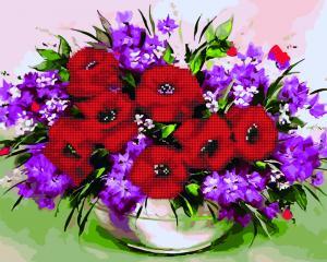 Фото  GZS 1100 Полевые цветы Алмазная картина-раскраска (смешанная техника)