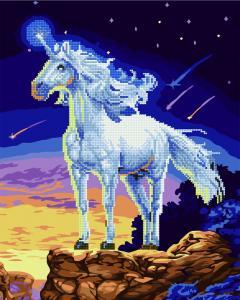 Фото  GZS 1106 Сказочный единорог Алмазная картина-раскраска (смешанная техника)