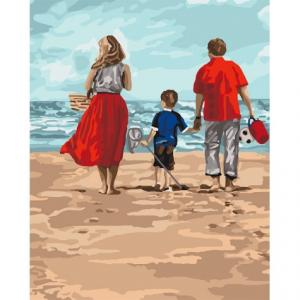 Фото Картины на холсте по номерам, Романтические картины. Люди KH 4679 Семейный отдых Картина по номерам на холсте 40х50см