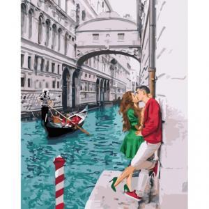 Фото Картины на холсте по номерам, Романтические картины. Люди KH 4681 Страсть по-итальянски Картина по номерам на холсте 40х50см