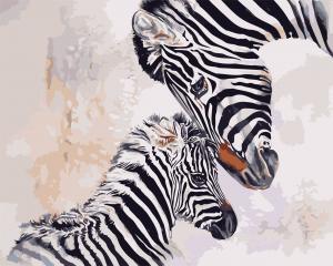 Фото Картины на холсте по номерам, Животные. Птицы. Рыбы... AS 0718 Мать и ребенок Картина по номерам на холсте Art Story 40x50см