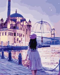 Фото Картины на холсте по номерам, Романтические картины. Люди AS 0755 Романтическая девушка по номерам на холсте Art Story 40x50см