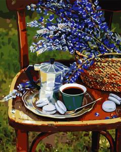 Фото Картины на холсте по номерам, Букеты, Цветы, Натюрморты AS 0767 Лето на даче по номерам на холсте Art Story 40x50см
