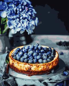 Фото Картины на холсте по номерам, Букеты, Цветы, Натюрморты AS 0771 Ягодный пирог по номерам на холсте Art Story 40x50см