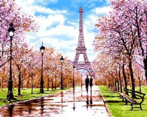 Фото Картины на холсте по номерам, Картины по номерам 50х65см VPS 1198 Апрель в Париже Картина по номерам на холсте 65х50см