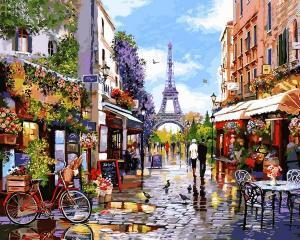 Фото Картины на холсте по номерам, Картины по номерам 50х65см VPS 1243 Цветущий Париж Картина по номерам на холсте 65х50см