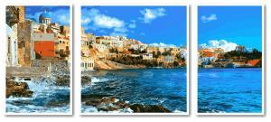 Фото Картины на холсте по номерам, Триптих, диптих VPT 049 Греция Роспись по номерам на холсте 50х50см (1холст), 2холста 50х30см