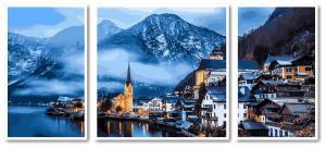 Фото Картины на холсте по номерам, Триптих, диптих VPT 051 Зимняя Австрия Роспись по номерам на холсте 50х50см (1холст), 2холста 50х30см