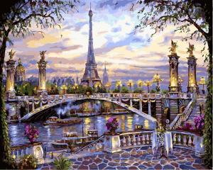 Фото  NBR 397 Воспоминания о Париже (цветной холст в рамке)  Premium 40x50см