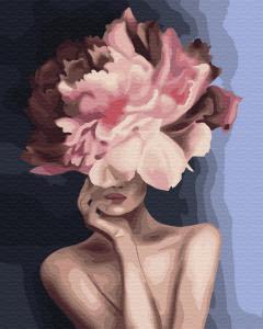 Фото Картины на холсте по номерам, Романтические картины. Люди KGX34806 Изящный цветок  Роспись по номерам на холсте 40х50см  в коробке