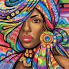AS 0939 Африканка Картина по номерам на холсте Art Story без коробки 40x40см