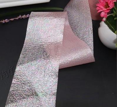 Фото Фатин ,регилин ,лазерная лента Лазерная лента , ширина 6 см. Розового цвета