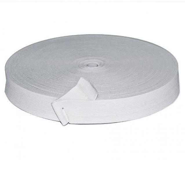 Фото Кружево ,тесьма ,сетка,резинка, Резинка для повязок, резинка простая. Резинка  Белая  трикотажная ,  ширина  2,5 см.