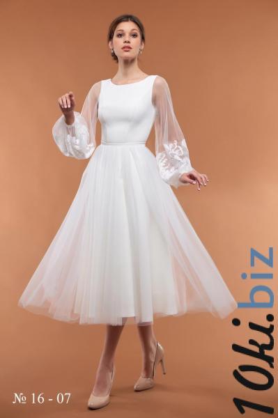 Свадебные платья - Короткое свадебное платье на роспись 16-07