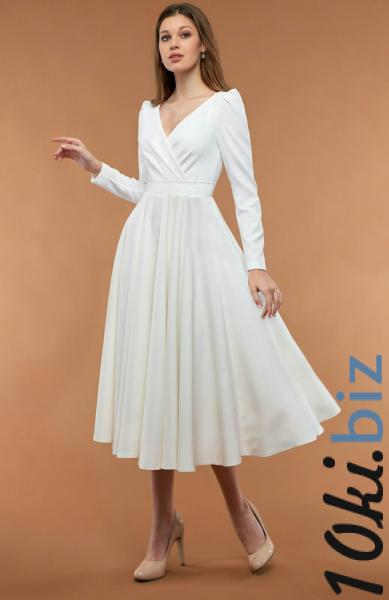 Свадебные платья - Лаконичное короткое свадебное платье в ЗАГС 20-04