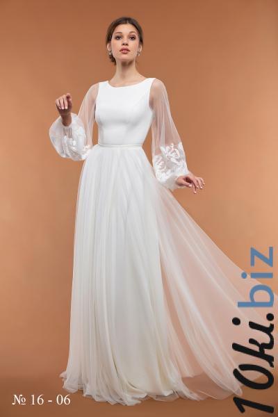Свадебные платья - Непышное свадебное платье в ЗАГС 16-06