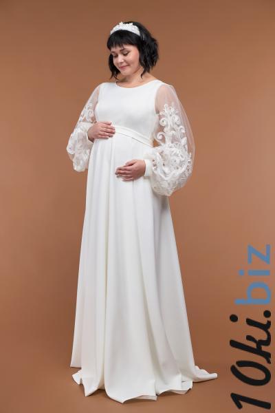 Свадебные платья - Свадебное платье непышное для беременных 36-22