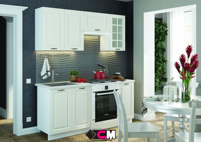 Фото Кухни модульные Кухня Мария МДФ белый (Стендмебель)