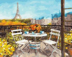 Фото Картины на холсте по номерам, Городской пейзаж KGX 25523 Солнечное утро в Париже Роспись по номерам на холсте 40х50см в коробке