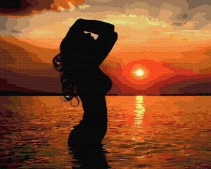 Фото Картины на холсте по номерам, Романтические картины. Люди KGX 36170 В лучах заката Картина по номерам  40х50см в коробке