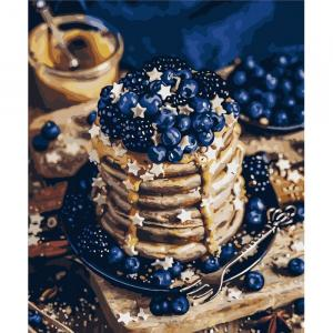 Фото Картины на холсте по номерам, Букеты, Цветы, Натюрморты KH 5568 Сладкий десерт Картина по номерам на холсте 40х50см